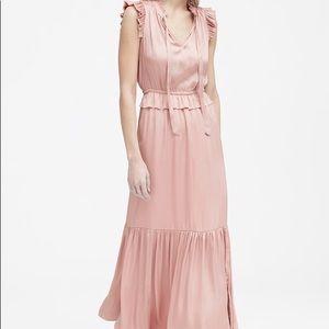 Banana Republic Soft Satin Maxi Dress in Blush